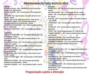 Programacao-Carnaval-Saquarema-Blocos-2014
